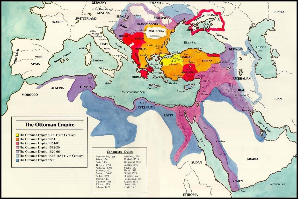 Osmanlıda Topraklarının Ulaştığı Sınırlar