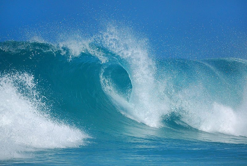 Deniz suyunun hareketlerinden dalgalar.