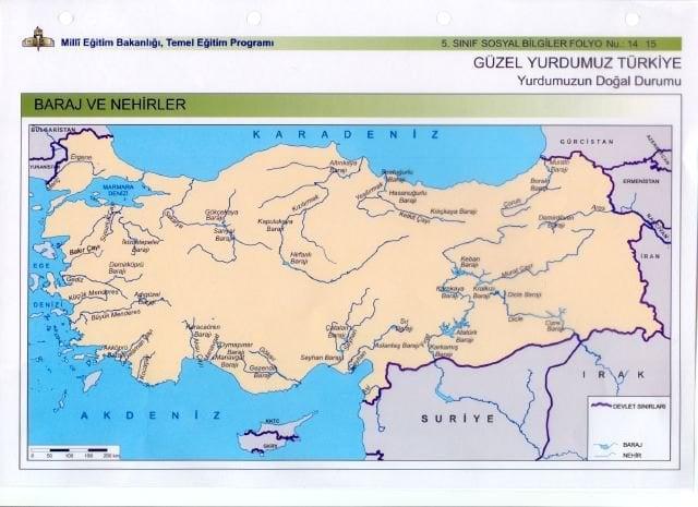 Akdenize Dökülen Akarsular