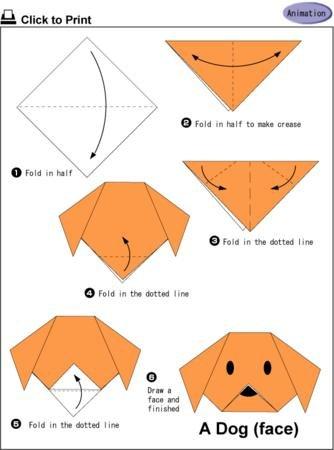 Origamiden köpek yapalım