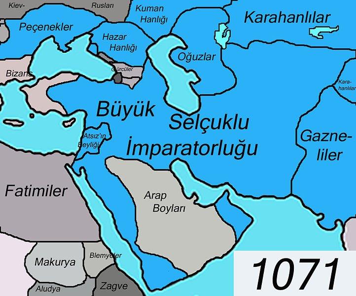 1071 de Selçuklu-Gazneli sınırı