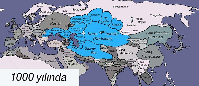 Gaznelilerin Hint Seferleri başlangıcındaki sınırı.