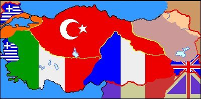 Serv Anlaşmasına Göre Sınırlar Haritası