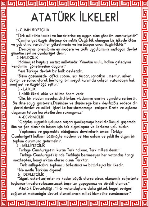 Atatürkün Yaptığı Yeniliklerin Özellikleri