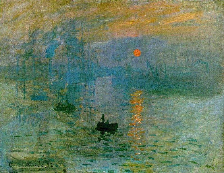 Claude Monetnin 1872 tarihli İzlenim: Gün Doğumu (Impression soleil levant) isimli tablosu, akımın adının kaynağıdır.
