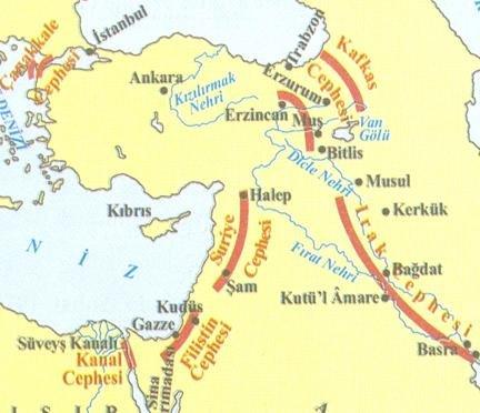 Osmanlı Devletinin Birinci Dünya Savaşında Savaştığı Cepheler