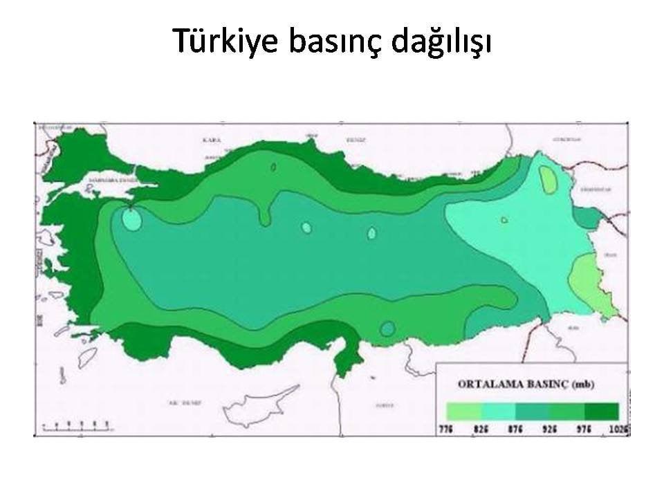 Türkiye Basınç Dağılımı Haritası