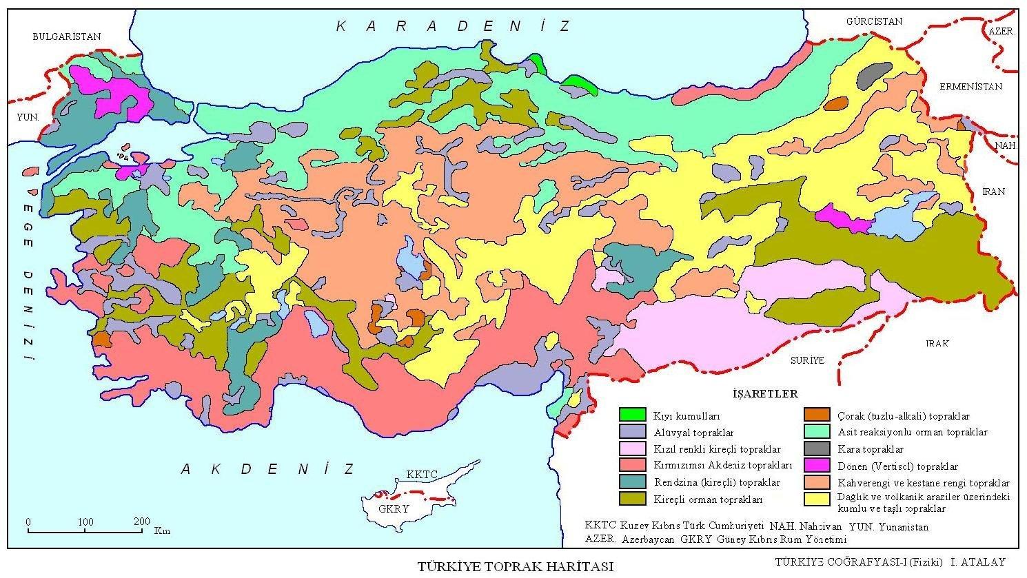 turkiye toprak tipleri haritasi