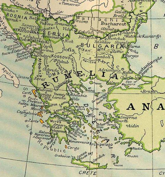1801 yılındaki Rumeli haritası