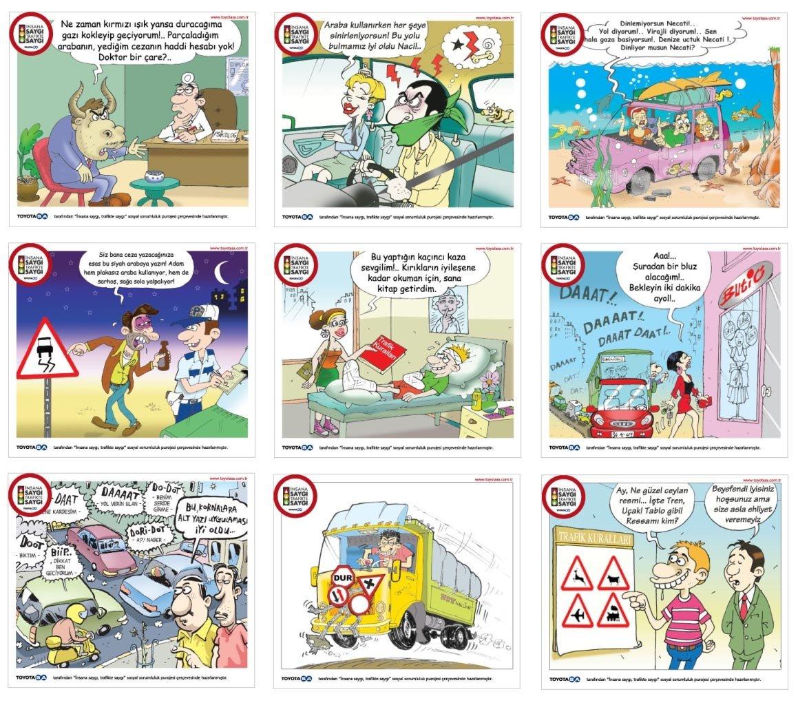 Trafik Kuralları İle İlgili karikatürler