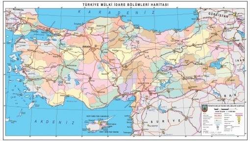 Mulki İdare Haritası