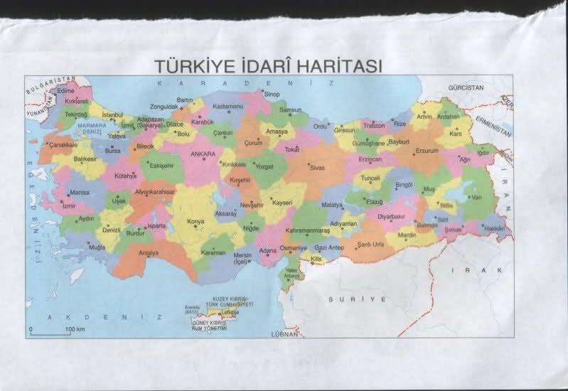 Türkiye İdari Haritası