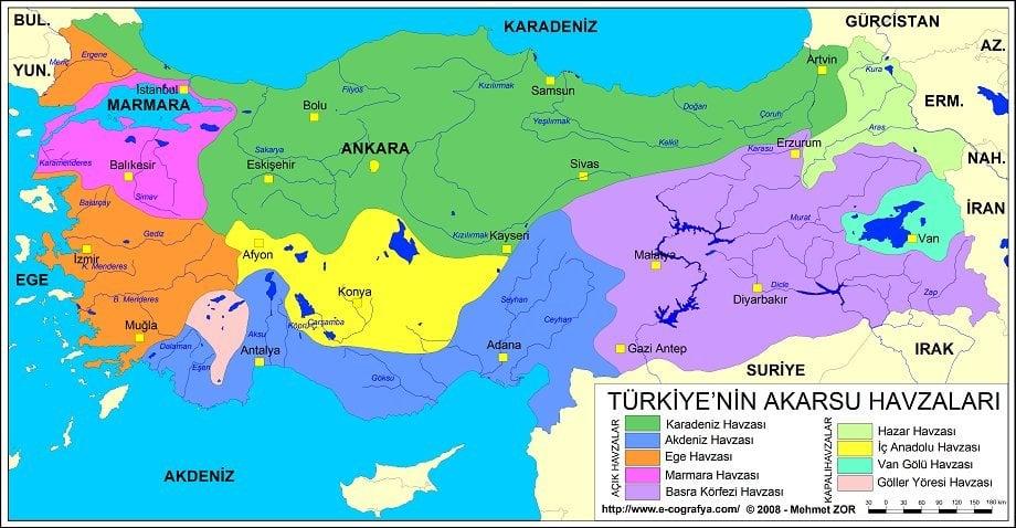 Türkiyedeki Kapalı Havzalar
